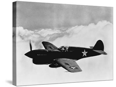 Vintage World War II Photo of a P-40 Fighter Plane-Stocktrek Images-Stretched Canvas Print