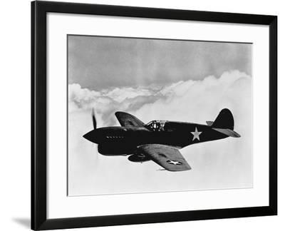 Vintage World War II Photo of a P-40 Fighter Plane-Stocktrek Images-Framed Photographic Print