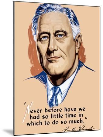 Vintage World War II Artwork of President Franklin Delano Roosevelt-Stocktrek Images-Mounted Photographic Print
