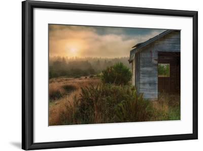 Morning Glow and Coastal Shack-Vincent James-Framed Photographic Print