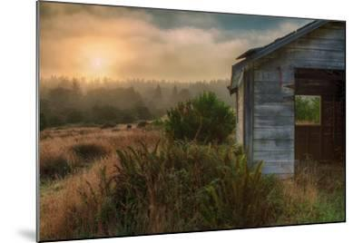 Morning Glow and Coastal Shack-Vincent James-Mounted Photographic Print