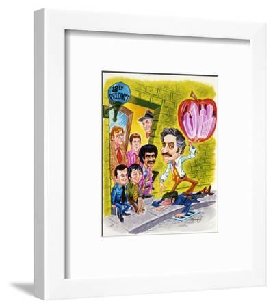 Barney Miller--Framed Photo