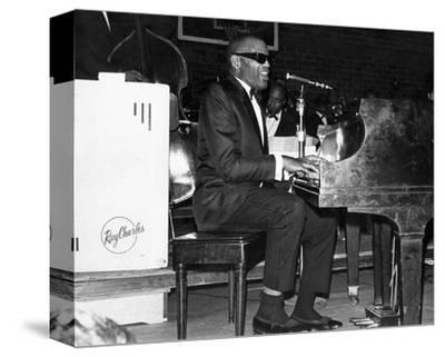 Ray Charles--Stretched Canvas Print