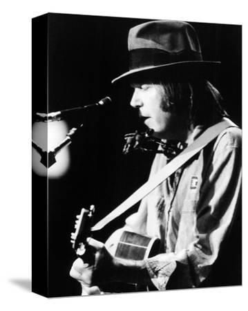Neil Young--Stretched Canvas Print