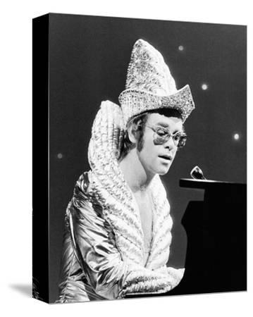 Elton John--Stretched Canvas Print