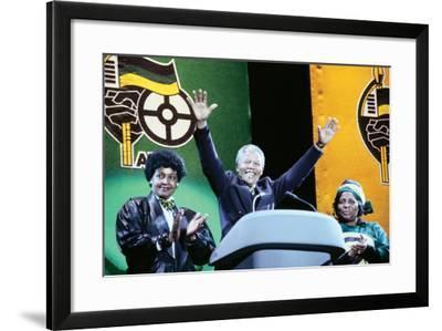 Nelson Mandela, London 1990--Framed Photographic Print