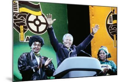 Nelson Mandela, London 1990--Mounted Photographic Print