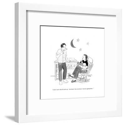 """""""I don't care what the ads say - 'electronic' does not mean 'nursery-appro?"""" - Cartoon-Emily Flake-Framed Premium Giclee Print"""