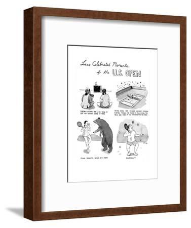 Less Celebrated Moments of the U.S. Open - Cartoon-Emily Flake-Framed Premium Giclee Print