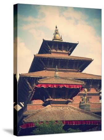 Taleju Temple, Durbar Square, Patan (UNESCO World Heritage Site), Kathmandu, Nepal-Ian Trower-Stretched Canvas Print