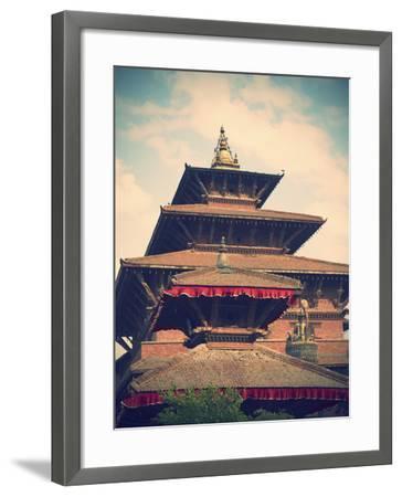 Taleju Temple, Durbar Square, Patan (UNESCO World Heritage Site), Kathmandu, Nepal-Ian Trower-Framed Photographic Print