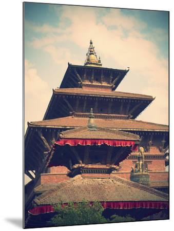 Taleju Temple, Durbar Square, Patan (UNESCO World Heritage Site), Kathmandu, Nepal-Ian Trower-Mounted Photographic Print