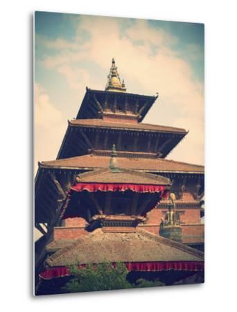 Taleju Temple, Durbar Square, Patan (UNESCO World Heritage Site), Kathmandu, Nepal-Ian Trower-Metal Print