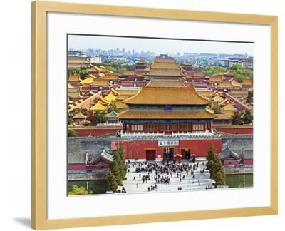 China, Beijing, the Forbidden City in Beijing Looking South-Gavin Hellier-Framed Photographic Print