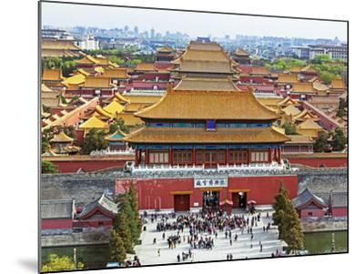 China, Beijing, the Forbidden City in Beijing Looking South-Gavin Hellier-Mounted Photographic Print