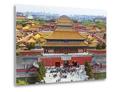 China, Beijing, the Forbidden City in Beijing Looking South-Gavin Hellier-Metal Print