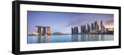 Singapore, Marina and City Skyline-Michele Falzone-Framed Photographic Print