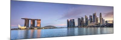 Singapore, Marina and City Skyline-Michele Falzone-Mounted Photographic Print