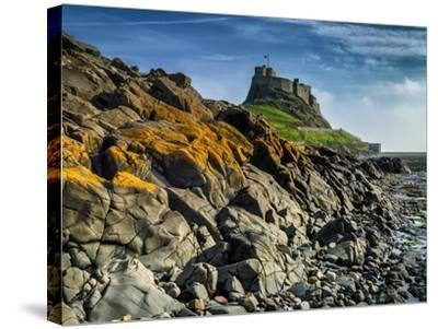 Europe, England, Northumberland, Holy Island, Lindisfarne Castle-Mark Sykes-Stretched Canvas Print