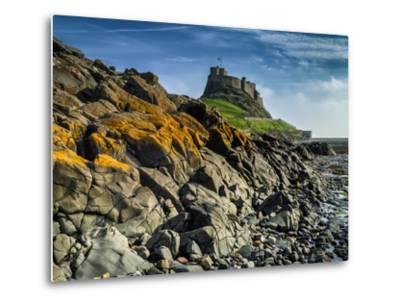 Europe, England, Northumberland, Holy Island, Lindisfarne Castle-Mark Sykes-Metal Print