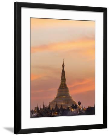Myanmar (Burma), Yangon, Shwedagon Pagoda-Steve Vidler-Framed Photographic Print
