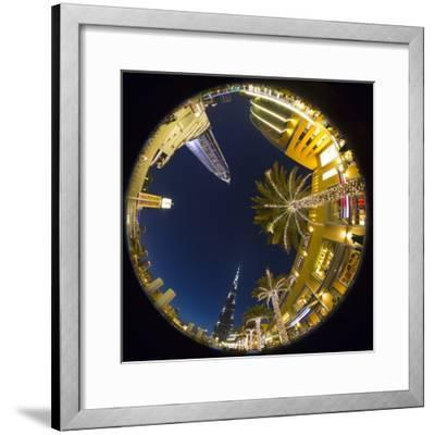 Burj Khalifa (World's Tallest Building) and the Address Downtown Hotel, Dubai, United Arab Emirates-Jon Arnold-Framed Photographic Print
