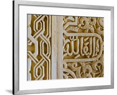 Spain, Andalucia, Granada Province, Granada, Spain, Alhambra Palace Complex (UNESCO Site)-Alan Copson-Framed Photographic Print