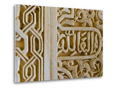 Spain, Andalucia, Granada Province, Granada, Spain, Alhambra Palace Complex (UNESCO Site)-Alan Copson-Metal Print