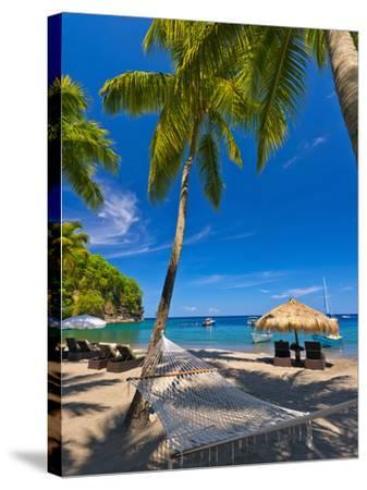 Caribbean, St Lucia, Soufriere, Anse Chastanet, Anse Chastanet Beach-Alan Copson-Stretched Canvas Print