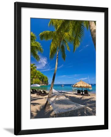 Caribbean, St Lucia, Soufriere, Anse Chastanet, Anse Chastanet Beach-Alan Copson-Framed Photographic Print