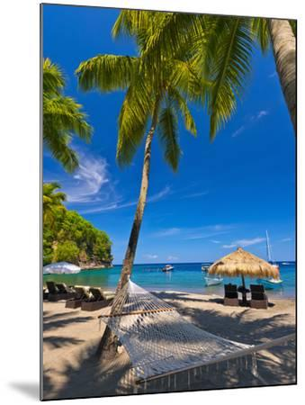 Caribbean, St Lucia, Soufriere, Anse Chastanet, Anse Chastanet Beach-Alan Copson-Mounted Photographic Print