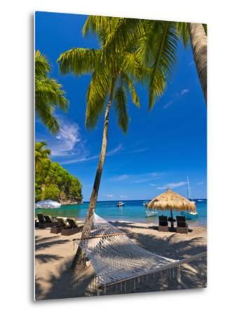 Caribbean, St Lucia, Soufriere, Anse Chastanet, Anse Chastanet Beach-Alan Copson-Metal Print