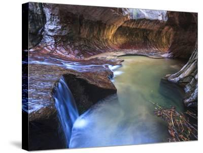 USA, Utah, Zion Canyon National Park, the Subway-Michele Falzone-Stretched Canvas Print
