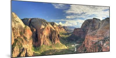 USA, Utah, Zion National Park, Zion Canyon from Angel's Landing-Michele Falzone-Mounted Photographic Print
