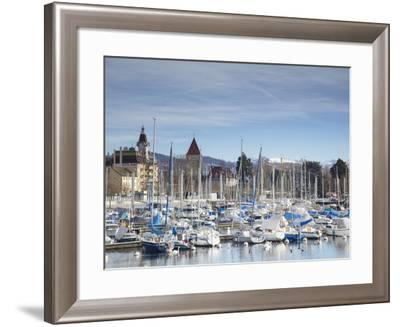 Ouchy Harbour, Lausanne, Vaud, Switzerland-Ian Trower-Framed Photographic Print