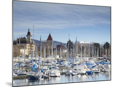 Ouchy Harbour, Lausanne, Vaud, Switzerland-Ian Trower-Mounted Photographic Print