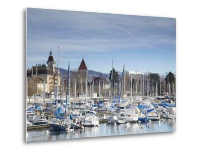 Ouchy Harbour, Lausanne, Vaud, Switzerland-Ian Trower-Metal Print