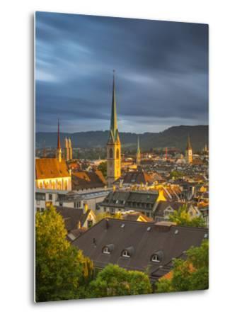City Skyline, Zurich, Switzerland-Jon Arnold-Metal Print