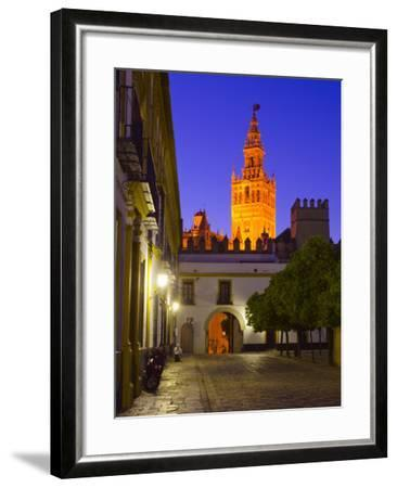 Spain, Andalucia, Seville Province, Cathedral of Seville, the Giralda Tower-Alan Copson-Framed Photographic Print