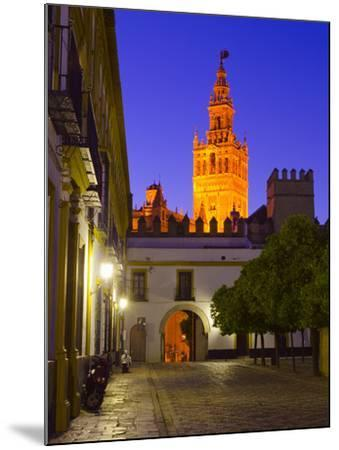 Spain, Andalucia, Seville Province, Cathedral of Seville, the Giralda Tower-Alan Copson-Mounted Photographic Print