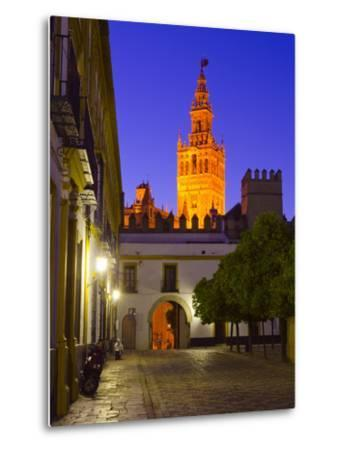 Spain, Andalucia, Seville Province, Cathedral of Seville, the Giralda Tower-Alan Copson-Metal Print