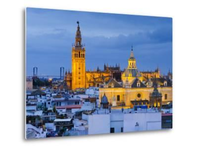 Spain, Andalucia, Seville Province, Seville,  Cathedral of Seville, the Giralda Tower-Alan Copson-Metal Print