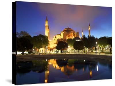 Haghia Sophia at Sunrise, (Aya Sofya Mosque), the Church of Holy Wisdom, Istanbul, Turkey-Neil Farrin-Stretched Canvas Print