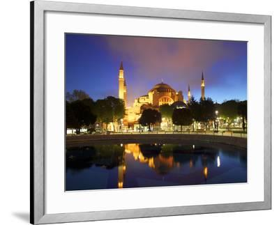Haghia Sophia at Sunrise, (Aya Sofya Mosque), the Church of Holy Wisdom, Istanbul, Turkey-Neil Farrin-Framed Photographic Print