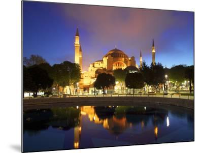 Haghia Sophia at Sunrise, (Aya Sofya Mosque), the Church of Holy Wisdom, Istanbul, Turkey-Neil Farrin-Mounted Photographic Print