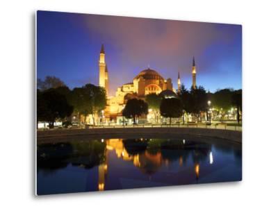 Haghia Sophia at Sunrise, (Aya Sofya Mosque), the Church of Holy Wisdom, Istanbul, Turkey-Neil Farrin-Metal Print