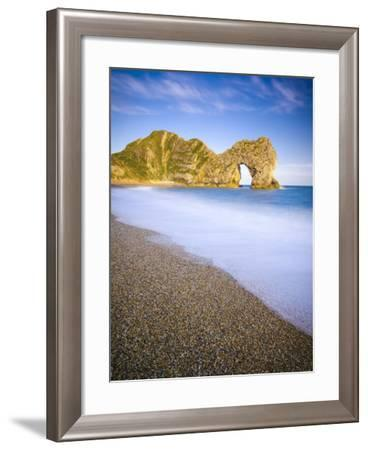 UK, Dorset, Jurassic Coast, Durdle Door Rock Arch-Alan Copson-Framed Photographic Print