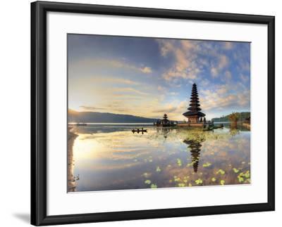 Indonesia, Bali, Bedugul, Pura Ulun Danau Bratan Temple on Lake Bratan-Michele Falzone-Framed Photographic Print