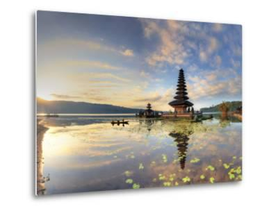 Indonesia, Bali, Bedugul, Pura Ulun Danau Bratan Temple on Lake Bratan-Michele Falzone-Metal Print