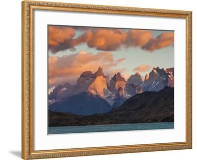 Chile, Magallanes Region, Torres Del Paine National Park, Lago Pehoe, Dawn Landscape-Walter Bibikow-Framed Photographic Print